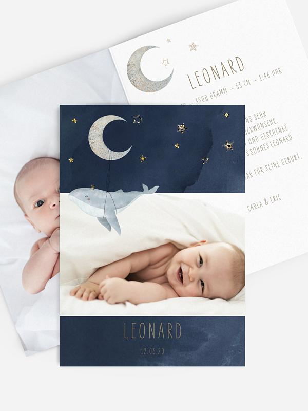 Geburtskarte Mondlicht