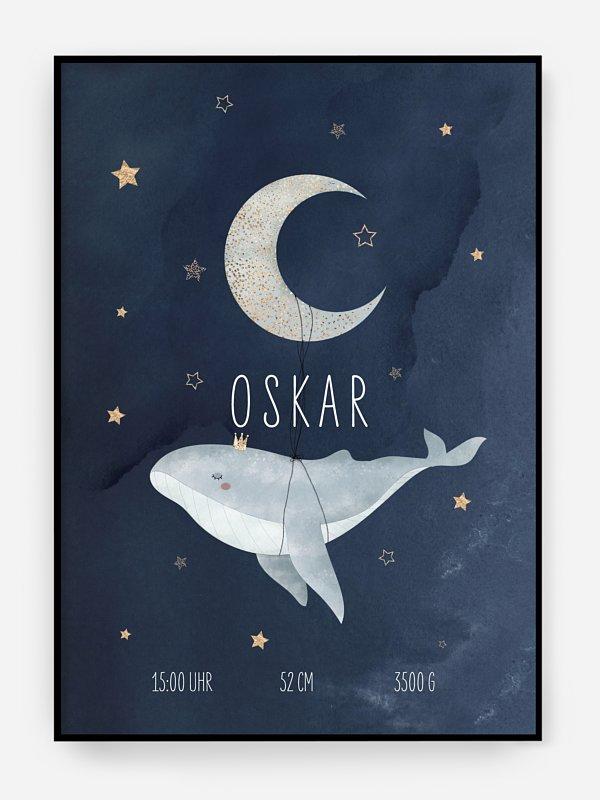 Poster Geburt Mondlicht