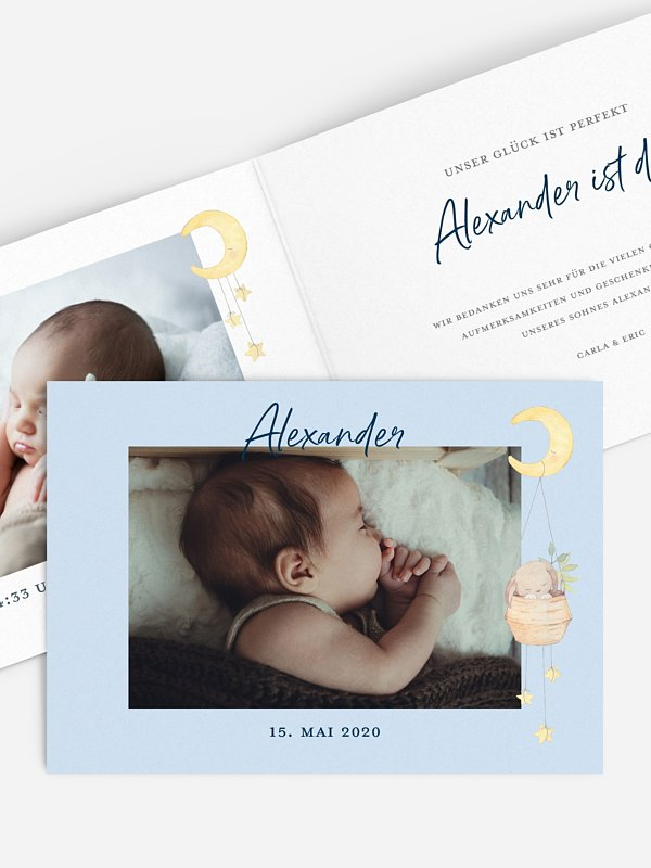 Geburtskarte Süße Träume
