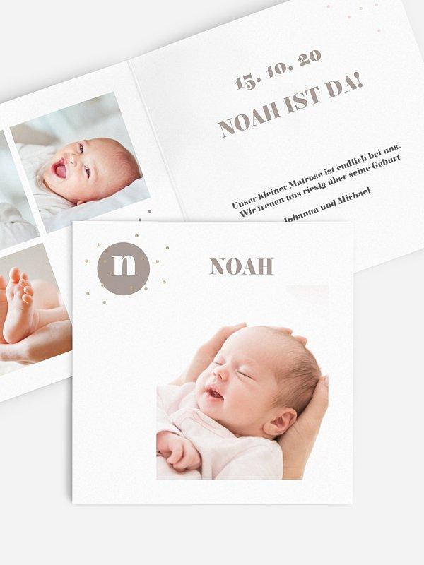 Geburtskarte Little Dot