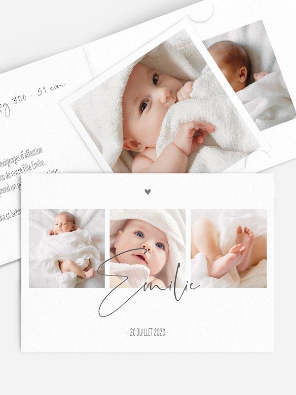 Faire-part naissance Photos du bonheur