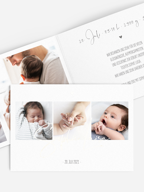 Geburtskarte Glücksfotos