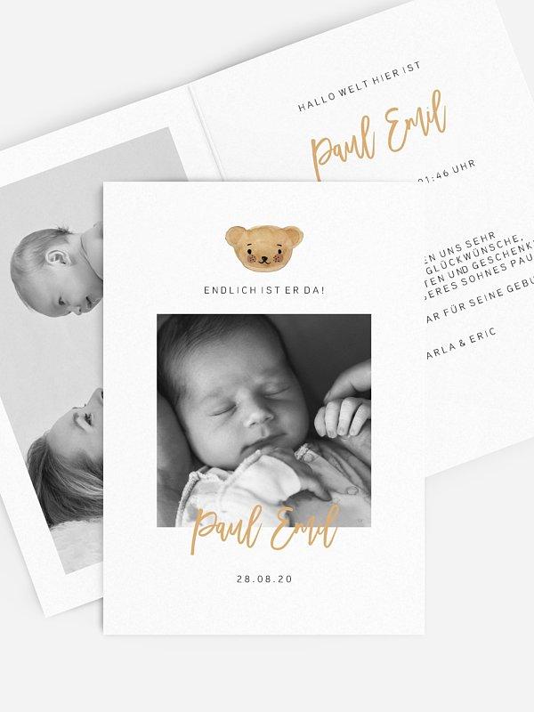 Geburtskarte Maskottchen