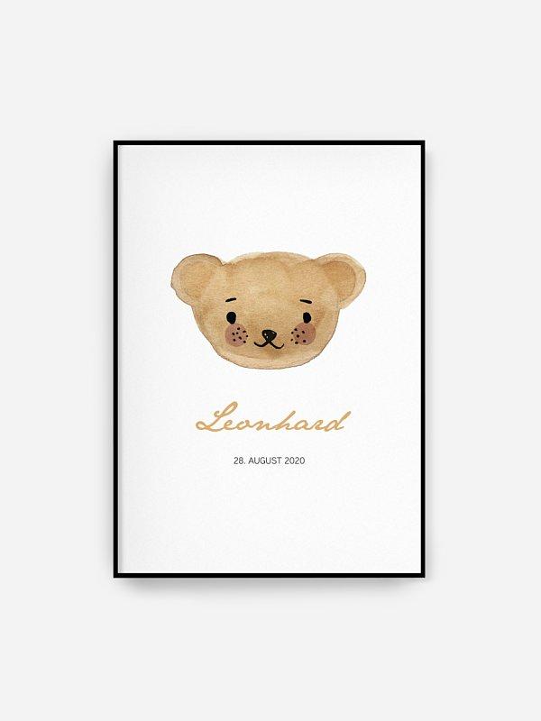 Poster Geburt Maskottchen