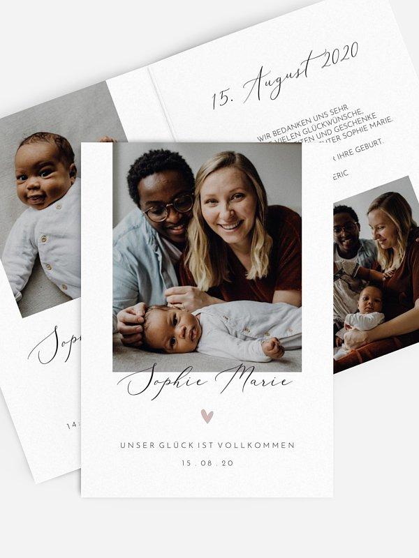 Geburtskarte Perfekt