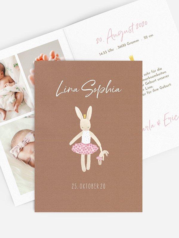 Geburtskarte Kleine Ballerina