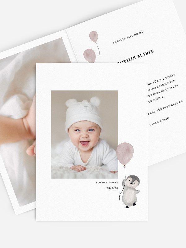 Geburtskarte Joyful