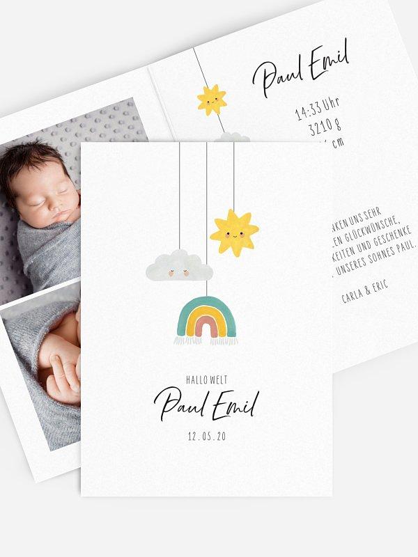 Geburtskarte Himmels Trio