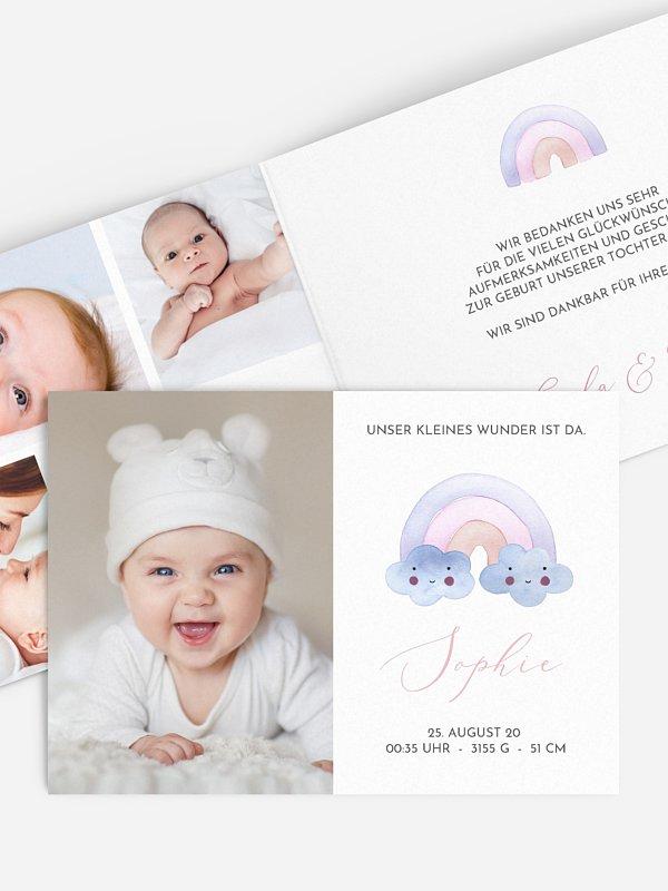 Geburtskarte Happy Colors