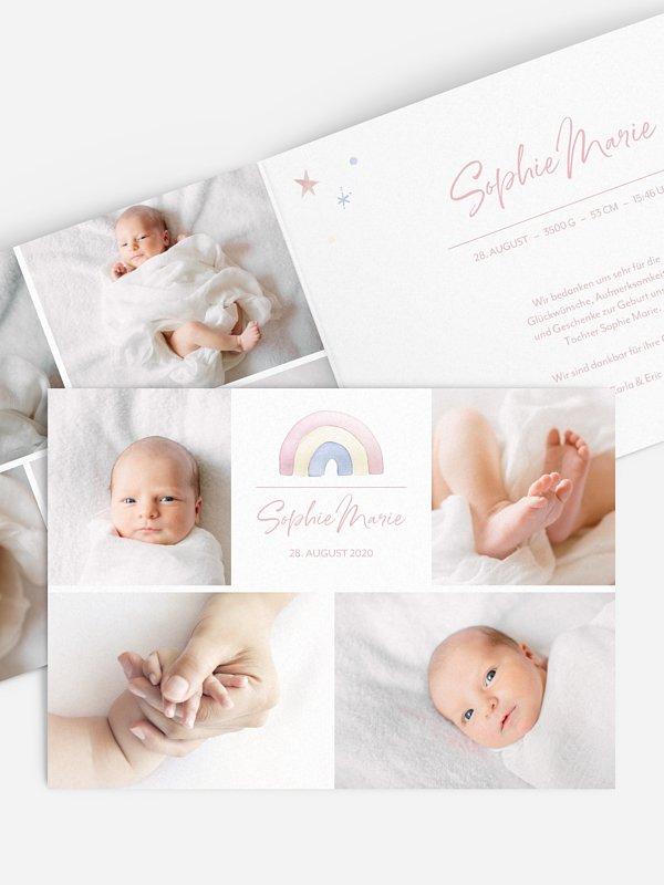 Geburtskarte Playful