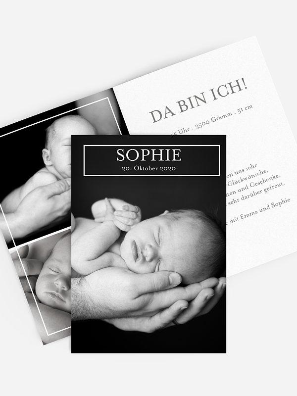 Geburtskarte Announcement