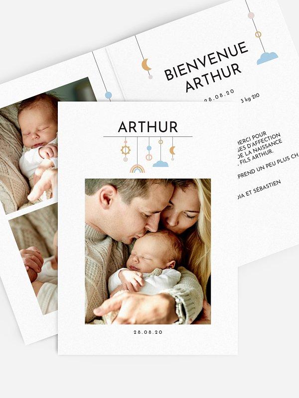 Faire-part naissance Baby mobile