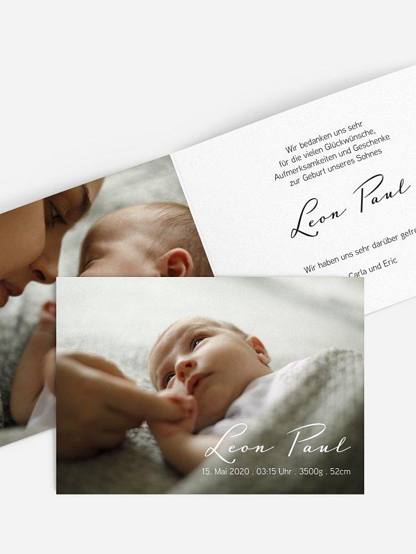 Geburtskarte Simple Love