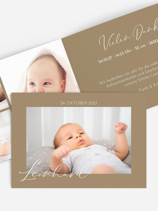 Geburtskarte Nur Du