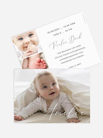 """Geburtskarte """"Pure Happiness"""""""