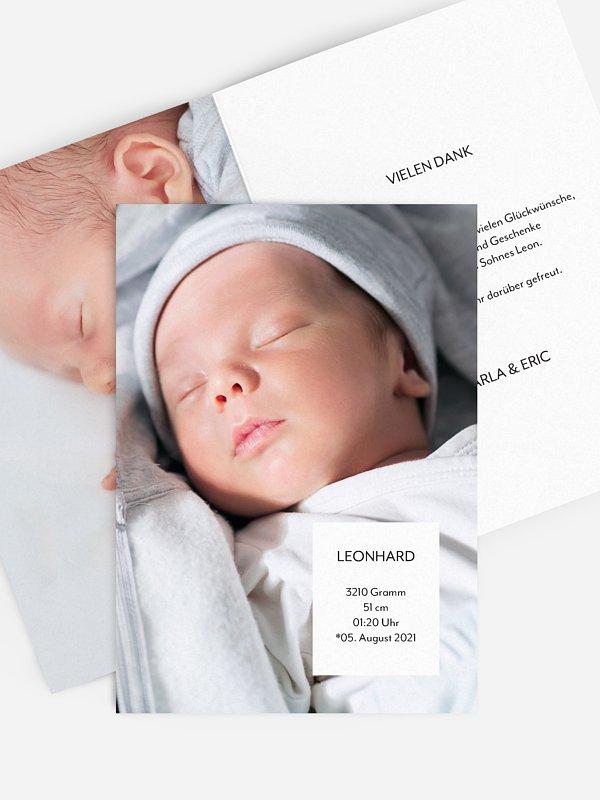 Geburtskarte Just Simple