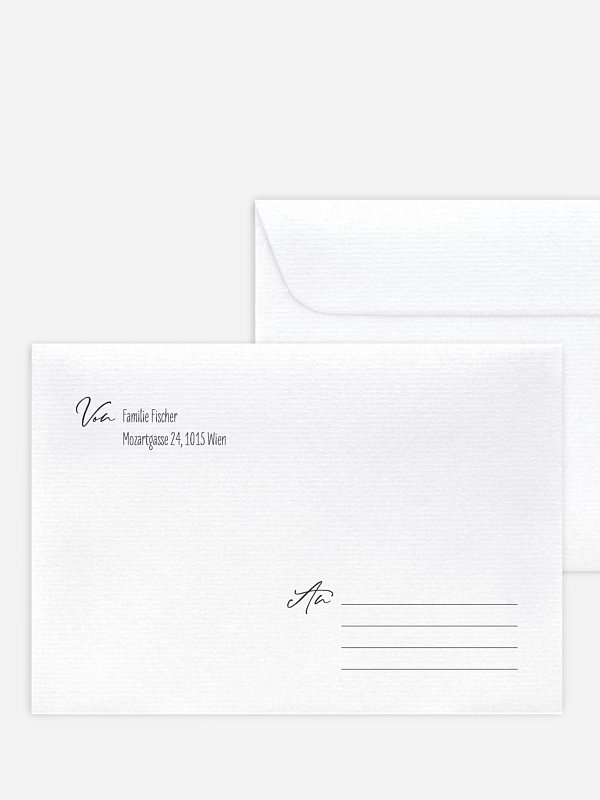 Briefumschlag mit Motiv Natural