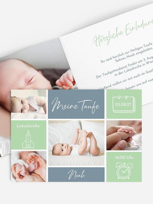 Taufeinladung Babywunder