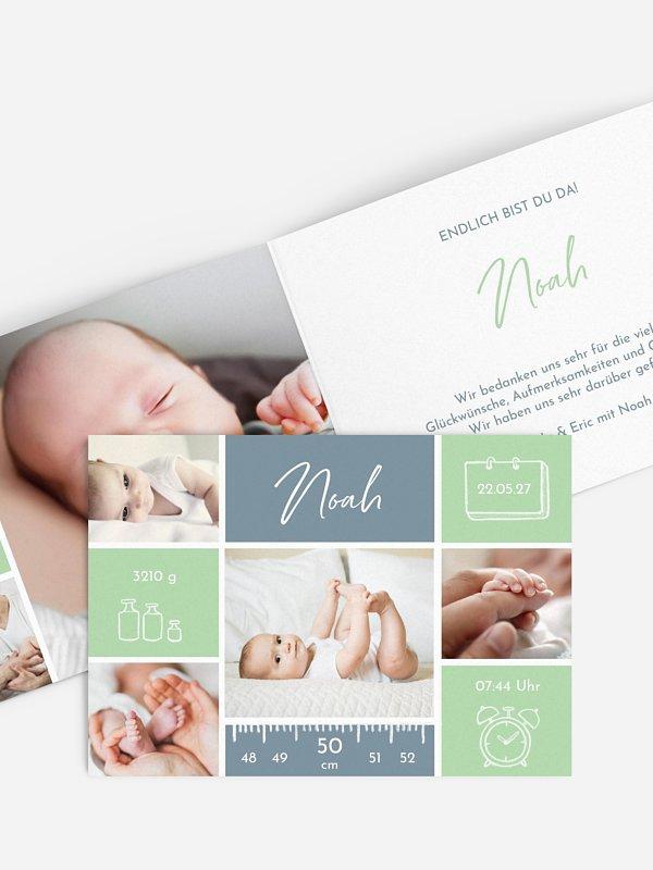 Geburtskarte Babywunder