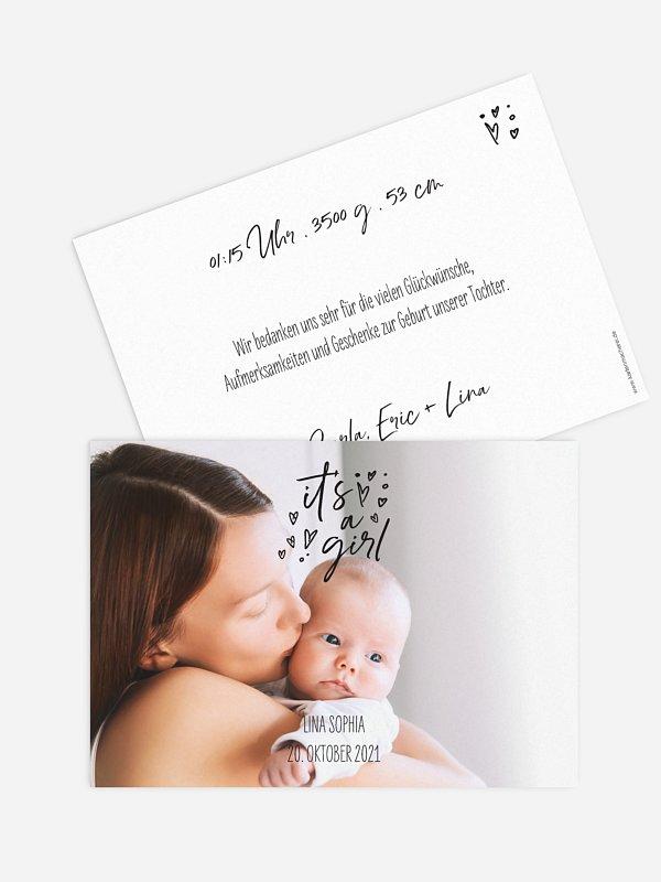Geburtskarte It's a girl