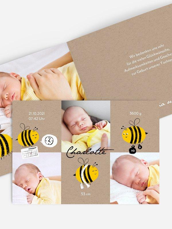 Geburtskarte Bienchen