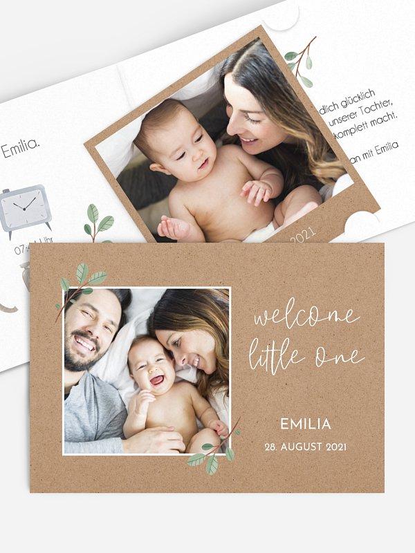 Geburtskarte Rustic Baby