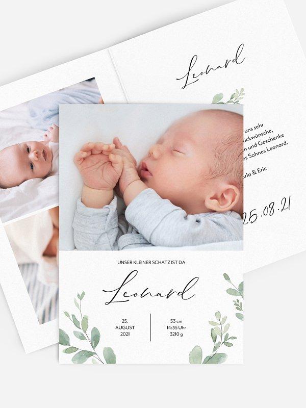 Geburtskarte Lieblich