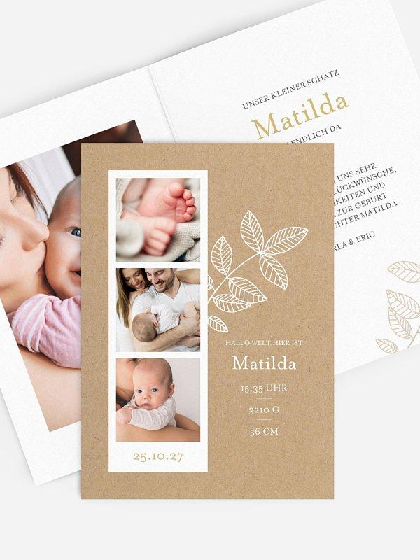 Geburtskarte Unser kleiner Schatz