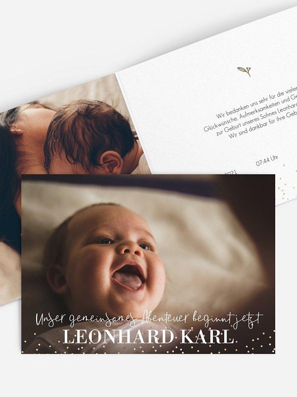 Geburtskarte Little Sparkling
