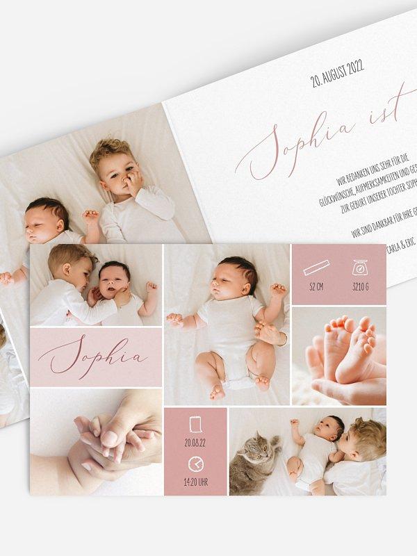 Geburtskarte Zauberhaft