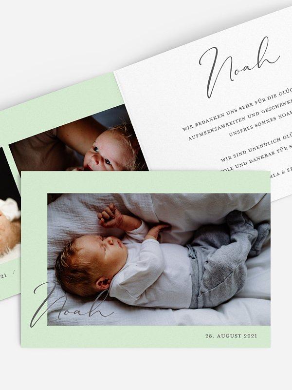 Geburtskarte Soft Calligraphy