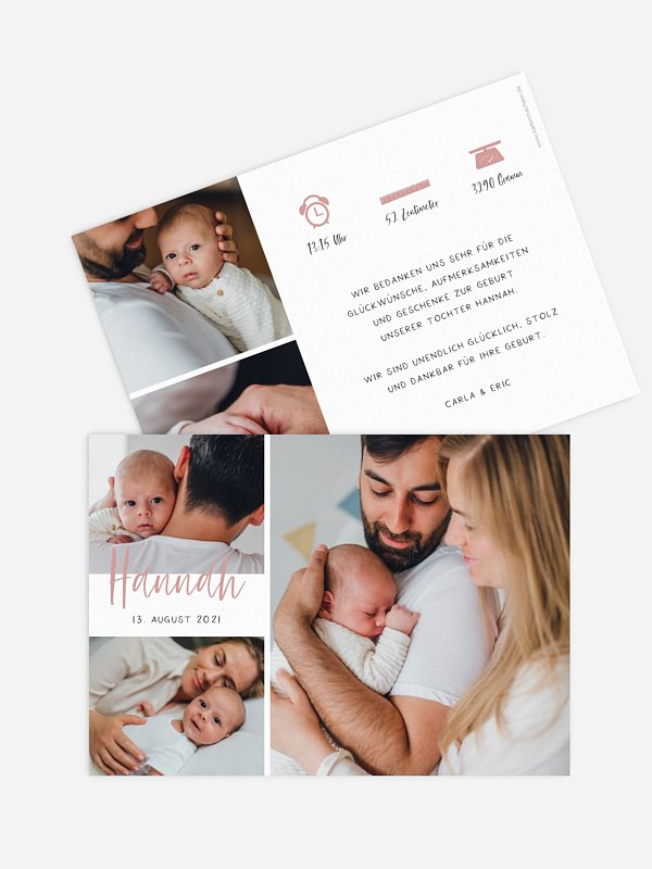 Geburtskarte Introducing