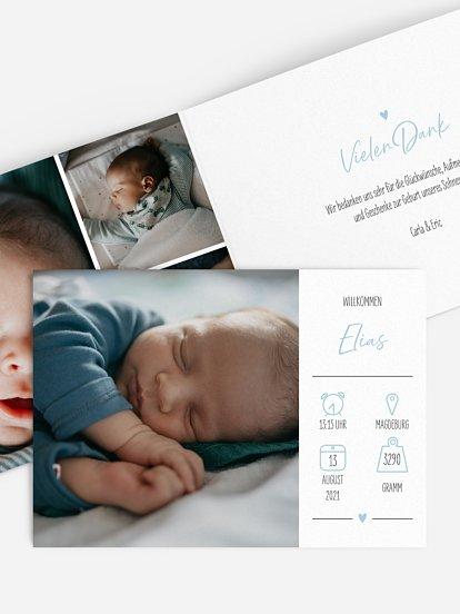 "Geburtskarte ""Luftschloss"""