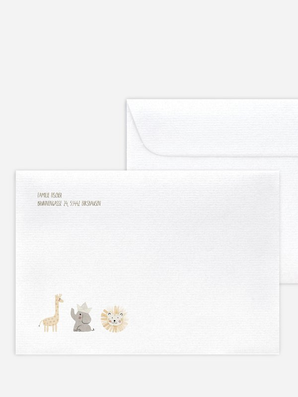 Briefumschlag mit Motiv Ahoi