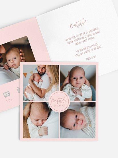 "Geburtskarte ""Littlecube"""