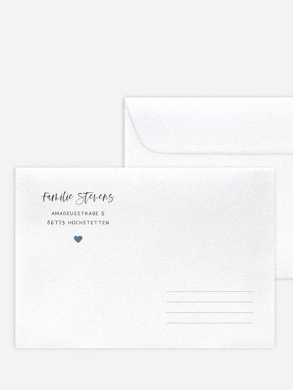 Briefumschlag mit Motiv Herzensglück