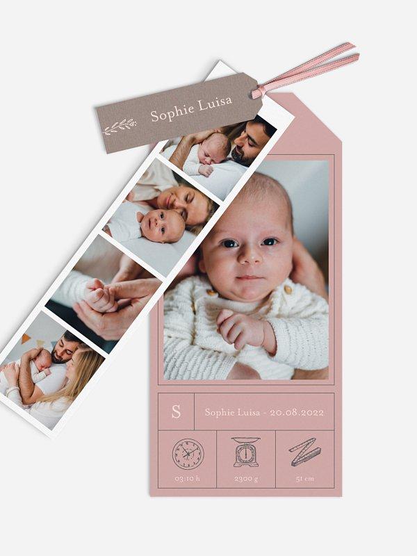 Geburtskarte Clear Lines