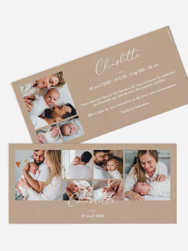 Faire-part naissance Multi-photos naissance