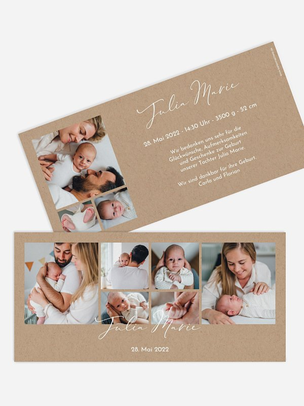 Geburtskarte Familienliebe
