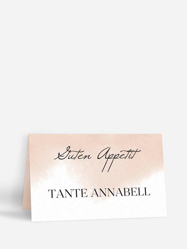 Tischkarte Hochzeit Soft Aquarelle