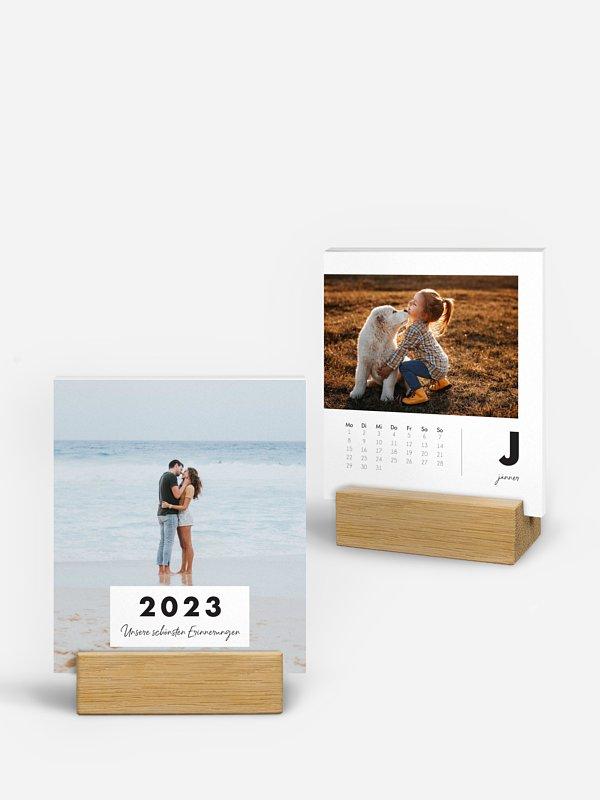 Tischkalender Clear Letter