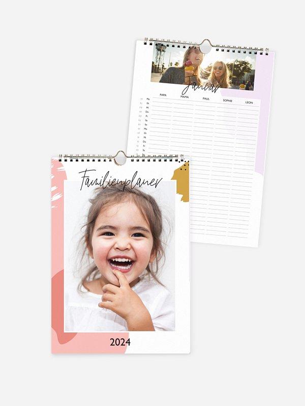 Familienkalender Farbklecks 5 Spalten
