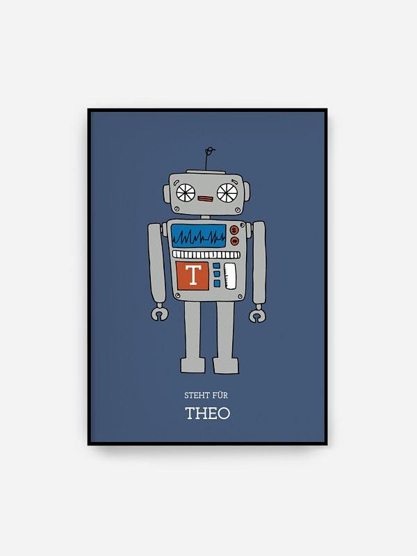 Poster Geburt Robot