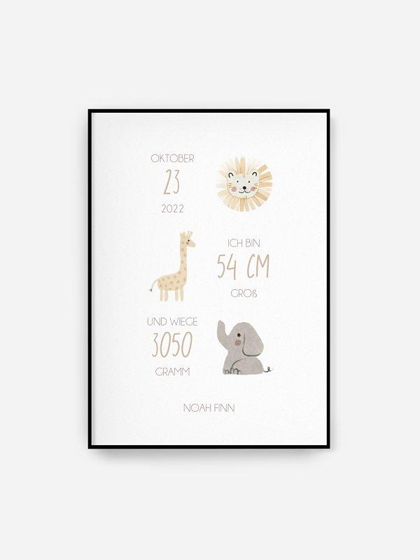 Poster Geburt Ahoi Tierchen
