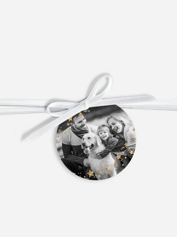 Geschenkeanhänger Sternchenband