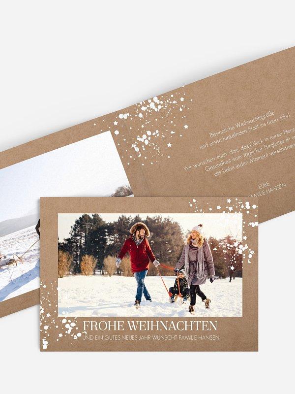 Weihnachtskarte Sparkle Time
