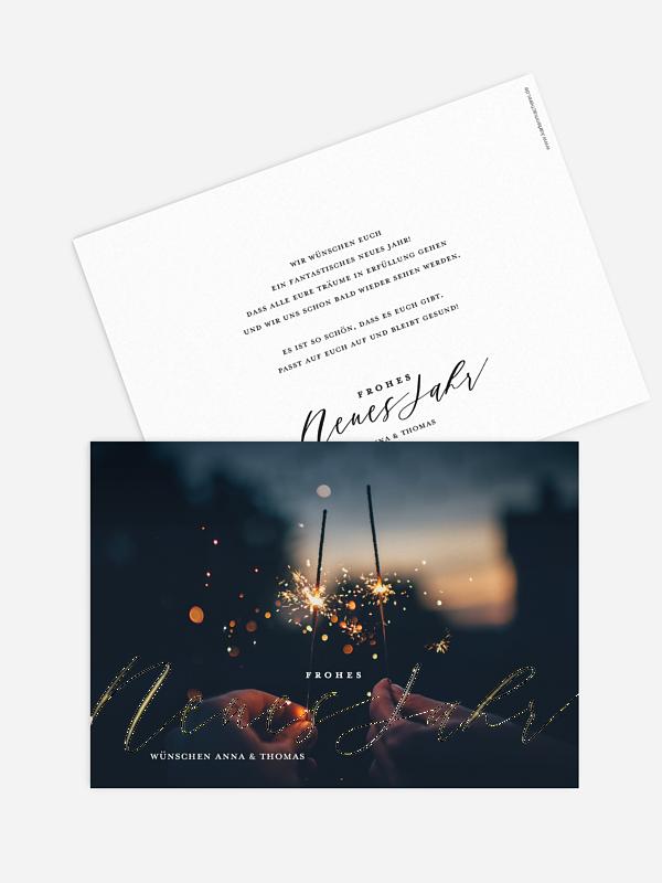 Neujahrskarten Lovely Calligraphy