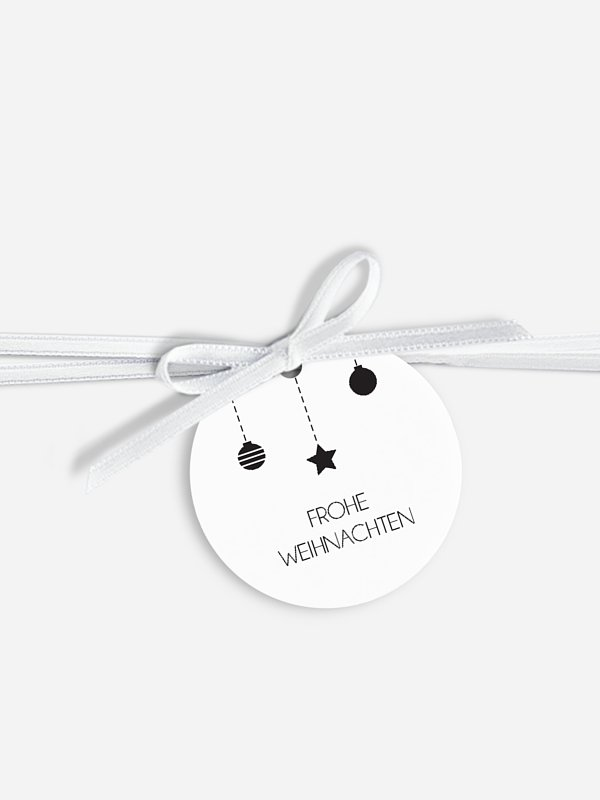 Geschenkeanhänger Happy Christmas
