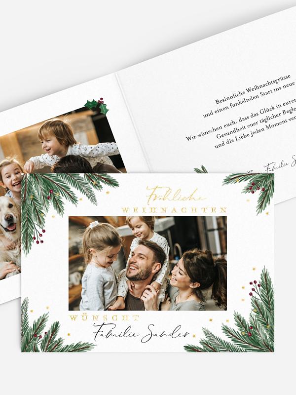 Weihnachtskarte Christmas Branch