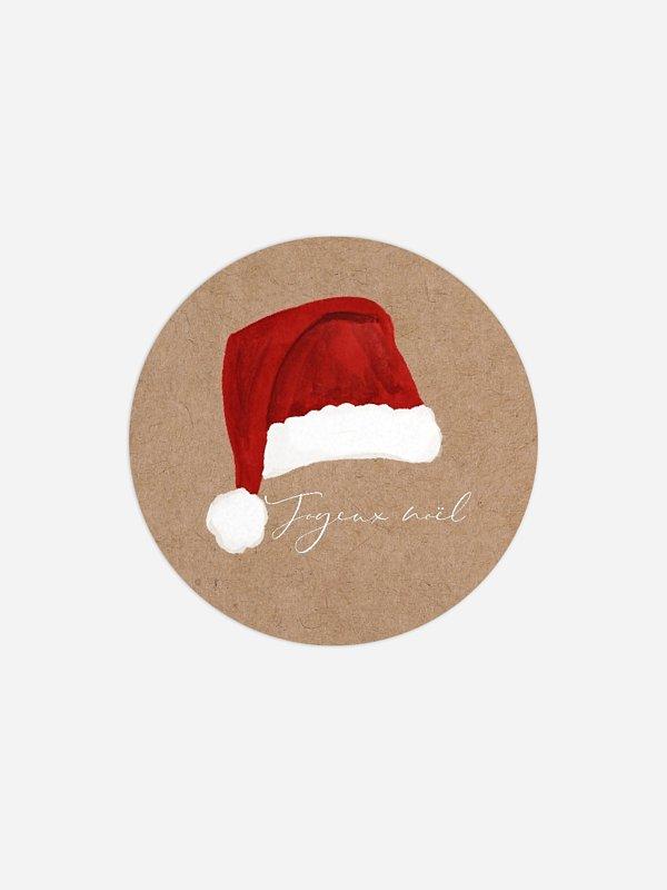 Étiquette cadeau Noël Lutins de Noël